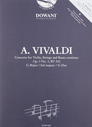 Vivaldi: Concerto for Violin, Strings and Basso Continuo in G Major, Op. 3, No. 3, RV 310 von Dowani